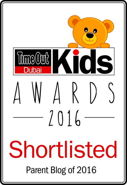 Time Out Dubai Kids Awards 2016 - Shortlisted - Parent Blog of 2