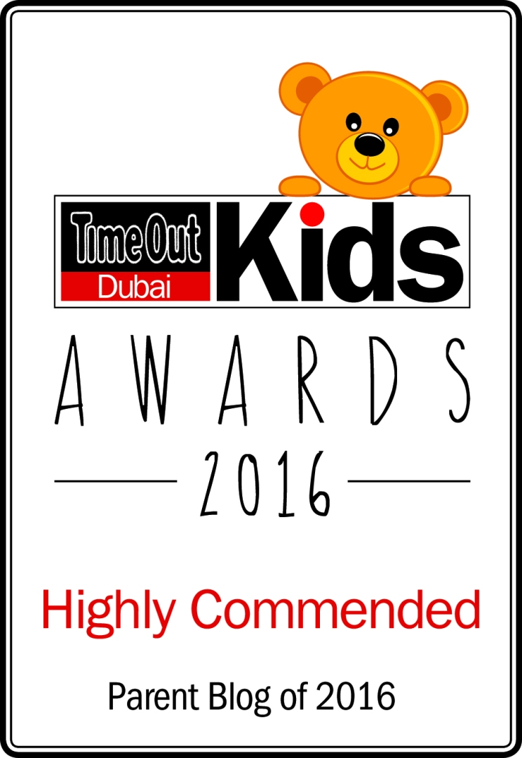 Time Out Dubai Kids Awards 2016 - Highly Commended - Parent Blog